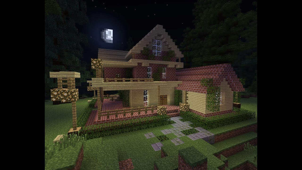 Minecraft Country House Style Timelapse Youtube