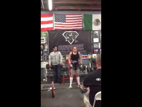 Jennifer Petrosino 253 Deadlift raw at 105 body weight