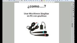 como usara microfonos singstar en pc con gnulinux