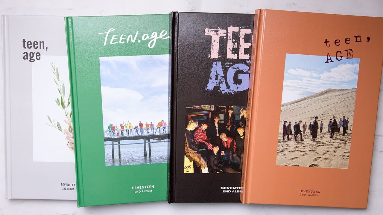 Unboxing | Seventeen Vol  2 - TEEN, AGE (WHITE + GREEN + ORANGE + RS  Version)