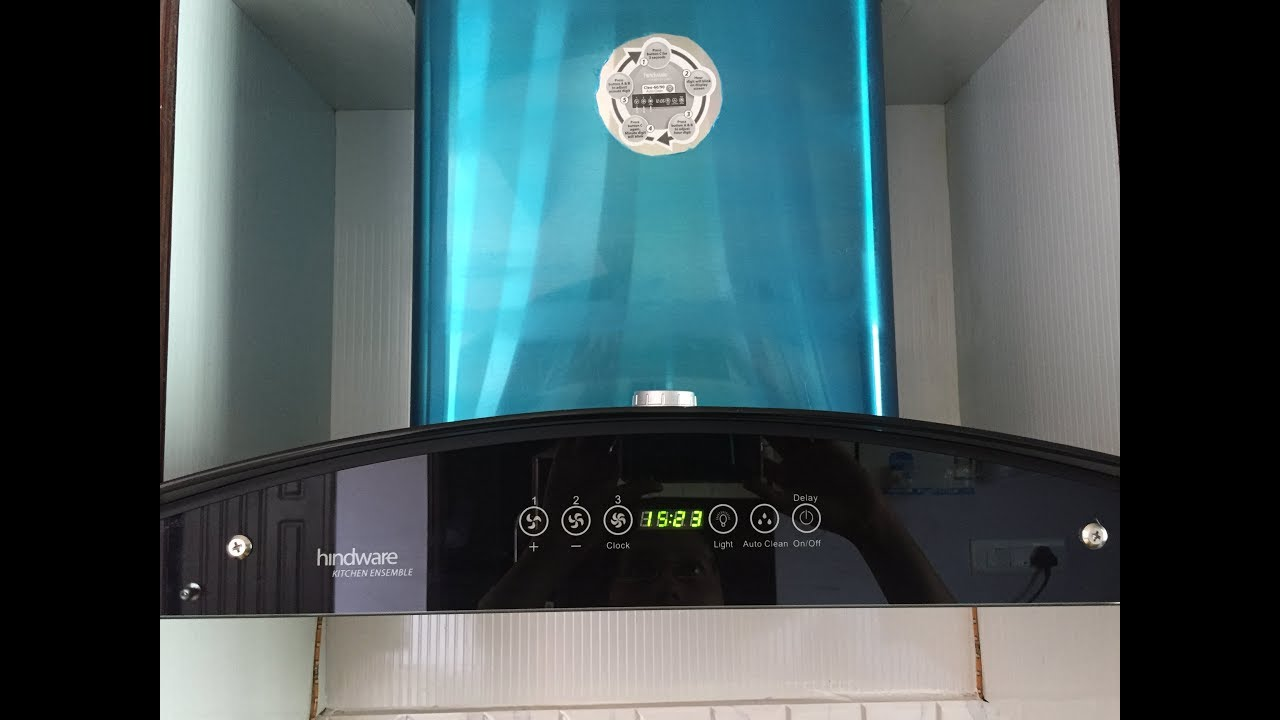 How to clean Hindware auto clean chimney - YouTube