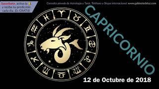 Horóscopo Diario - Capricornio - 12 de Octubre de 2018