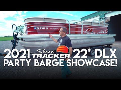 2021 Sun Tracker 22' DLX Party Barge Showcase/Walkaround