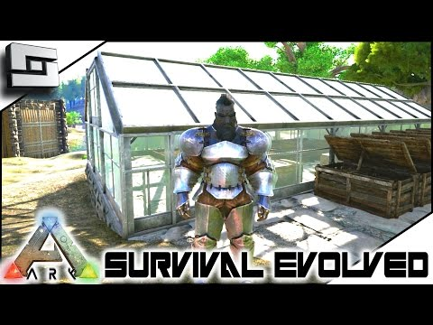 ARK: Survival Evolved - GREENHOUSE AND HAIRCUT! E7 ( Procedurally Generated Gameplay )