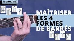 Conseil N°1 pour Guitariste Intermédiaire : Maitriser les 4 formes de barrés
