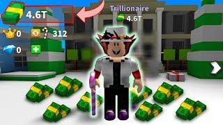 CONSEGUI R$1.000.000.000 no Billionaire Simulator no ROBLOX
