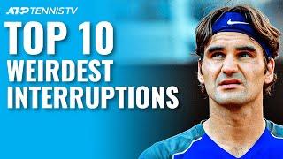 Top 10 Weirdest Interruptions to a Tennis Match! Part 1