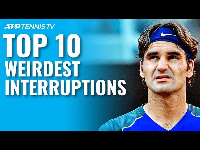 Top 10 Weirdest Interruptions to a Tennis Match!
