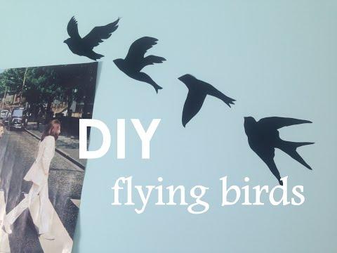 DIY Tumblr Wall Art || Flying Birds