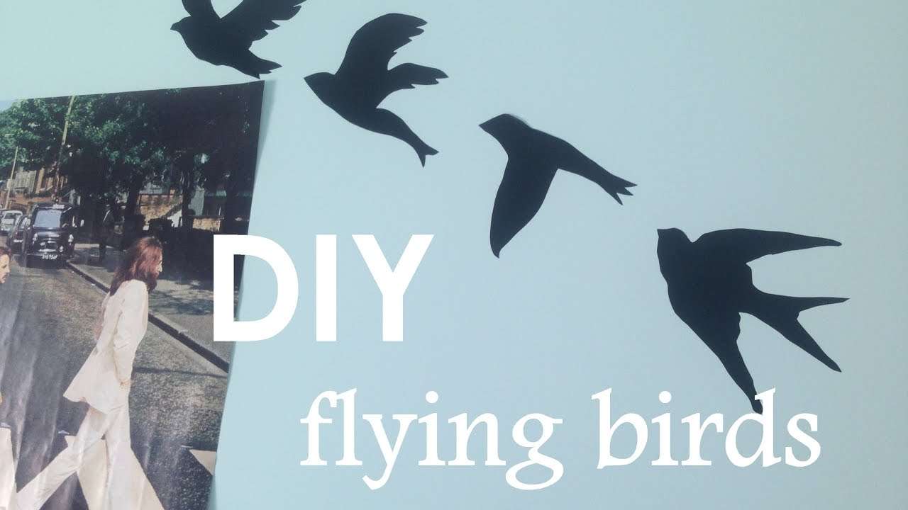 DIY Tumblr Wall Art || Flying Birds