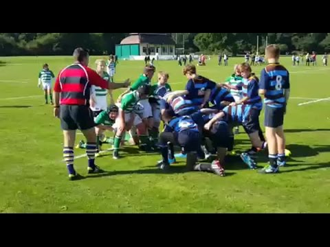 Zinzan Brooke witness' son scores first ever try