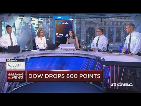 Dow drops 800 points