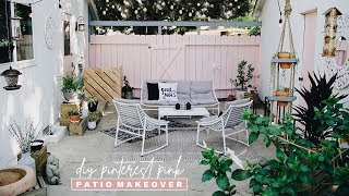 DIY Patio Makeover 2019 | Pretty in Pink + Chic!