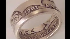 Silver and gold coin rings bullion coins turned into rings