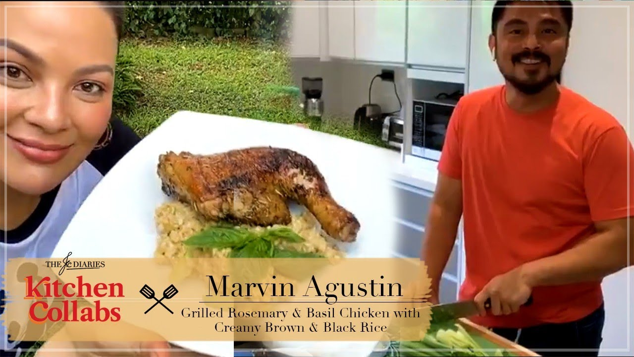 KITCHEN COLLABS S2: KC LEARNS TO COOK - HERBED GRILLED CHICKEN + CREAMY ADLAI W/ MARVIN AGUSTIN