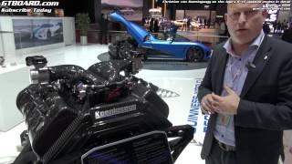 Engine in detail Koenigsegg Agera R by Christian von Koenigsegg