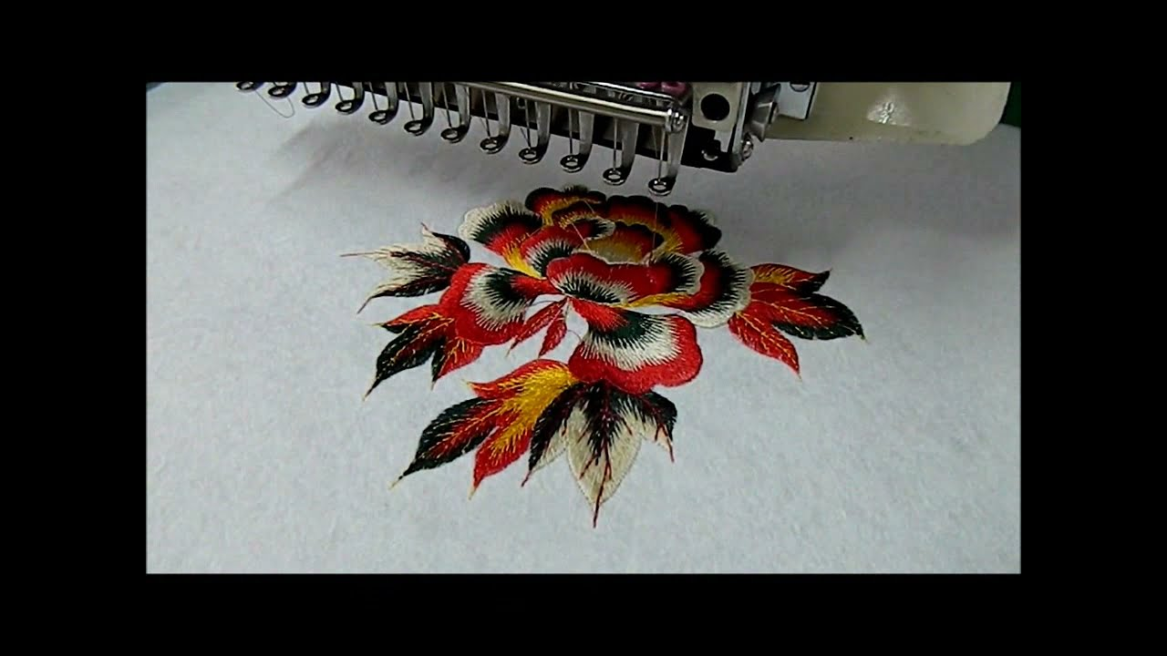 ae2d006e9c6 Computerized Embroidery Machine 12-15 Colors - YouTube