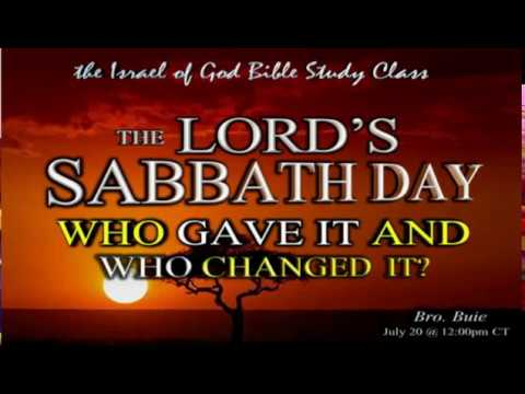 "Download IOG - ""The Lord's Sabbath Day: Who Gave It & Who Changed It?"" 2019"