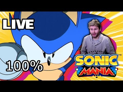 Sonic Mania Live - 100% Sonic Playthrough: All Chaos Emeralds, Gold Coins and Super Sonic Gameplay!