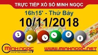 Xổ số Minh Ngọc™ Thứ Bảy 10/11/2018 - Kênh chính thức từ Minhngoc.net.vn