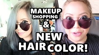 MAKEUP SHOPPING &  MY NEW HAIR COLOR! (May 15, 2017) - saytioco
