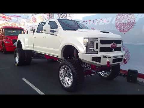877-544-8473 American Force FP6 Forged Custom Built Polished Dually Rims Ford F-450 Sema Show