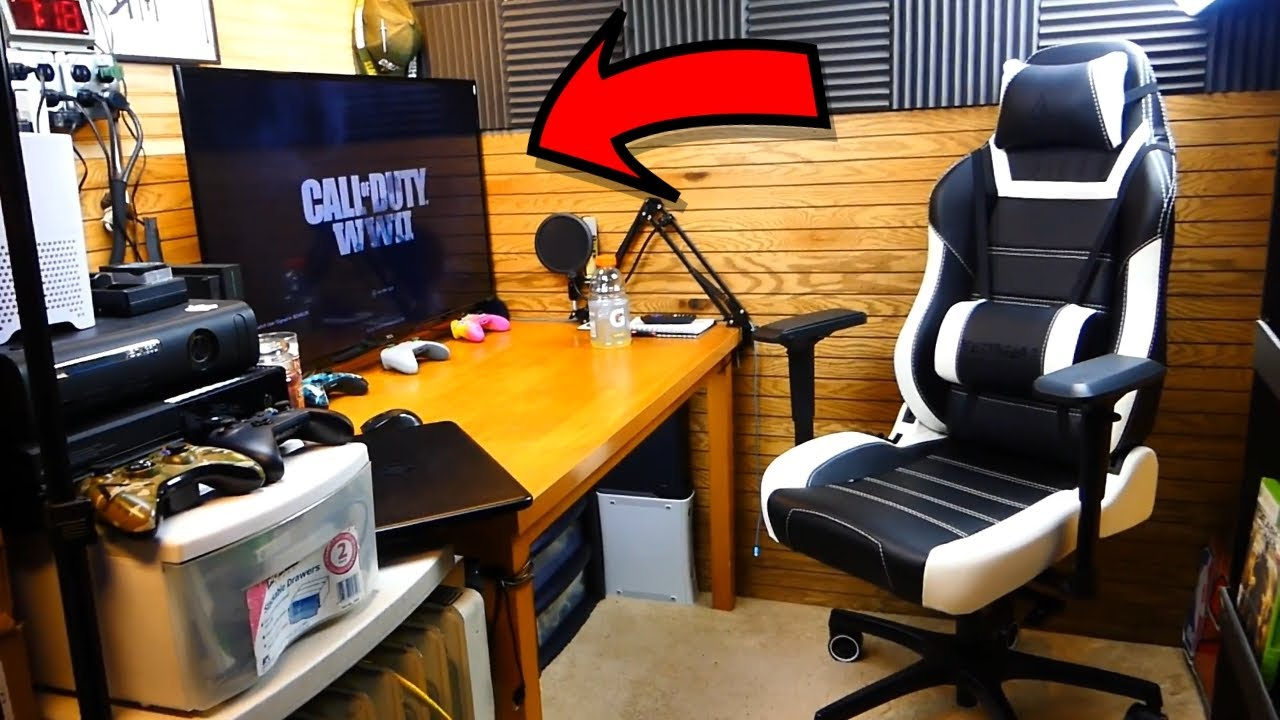 the ultimate gaming room setup youtube. Black Bedroom Furniture Sets. Home Design Ideas