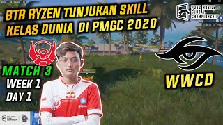 BTR Tunjukan Skill Berkelas di PMGC 2020 | The Real Rusher epic comback Battle with RRQ Athena