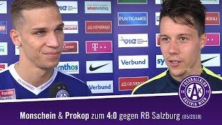 Prokop und Monschein nach dem 40 gegen RB Salzburg