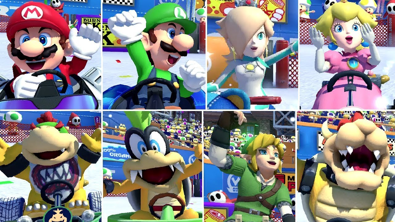 Mario Kart 8 Deluxe All Characters Winning Animations