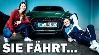 Sie fährt Lazos Dreckskarren   Der Audi RS5-R Abt (Frau am Steuer)   Youtuner