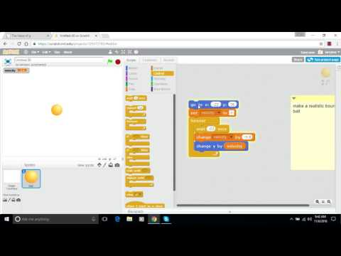 Make a Bouncing Ball in Scratch - Episode 2 - Gravity