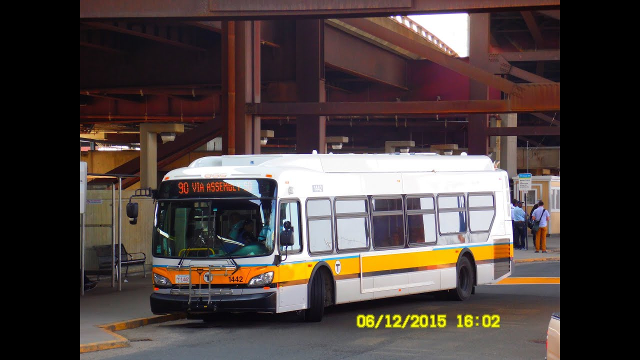 Mbta Boston 2014 New Flyer Xde40 Hybrid 1444 W