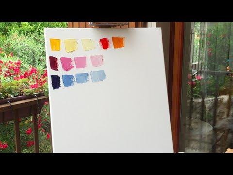 Как смешивать акриловые краски для получения нужного цвета