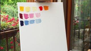 Как правильно смешивать краски и получать желаемые оттенки