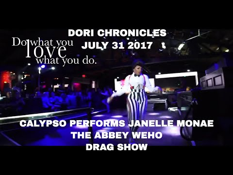 CALYPSO JETE PERFORMING AT THE ABBEY WEHO   DRAG SHOW   GAY BAR DORI CHRONICLES VLOG  DRAG QUEEN