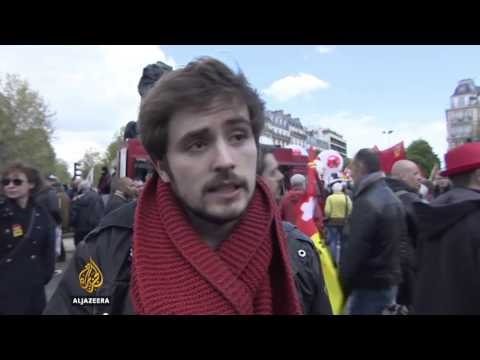 France protesters clash with police over new labour law