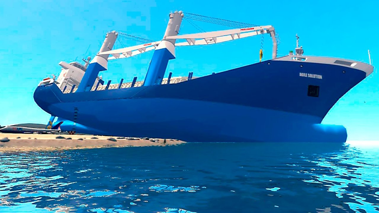 Gta Iv Mods Cargo Vessel Big Ship Youtube