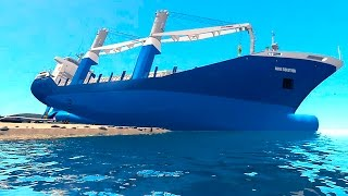 Grand Theft Auto IV - Cargo Vessel Big Ship Gameplay - GTAIV