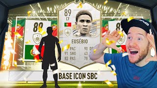 LUCKIEST BASE ICON UPGRADE SBC PACKS EVER!!!!! 9 ICON PACKS!!!! - FIFA 21 Ultimate Team Pack Opening