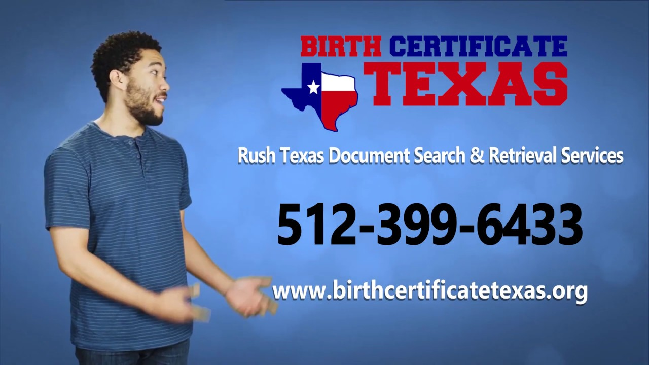 birth certificate texas rush same