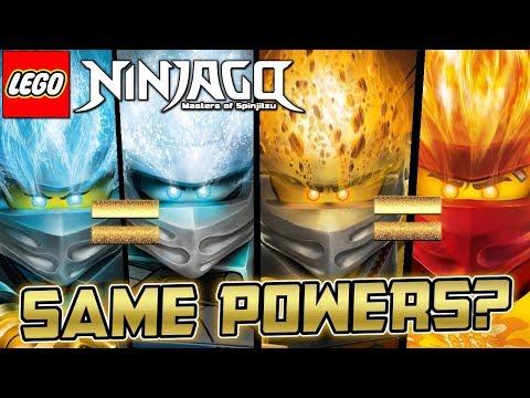 Ninjago: Similar Elemental Powers! 🌊❄️⛰️🔥