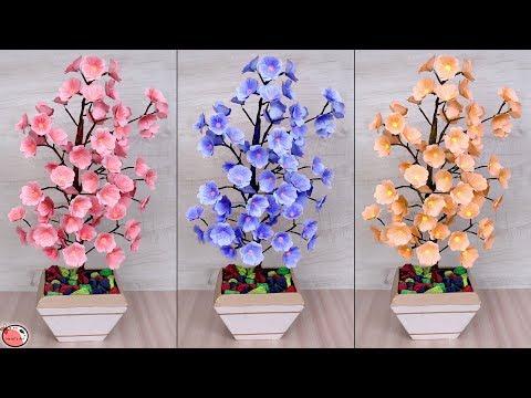 How to make paper rose flower pot