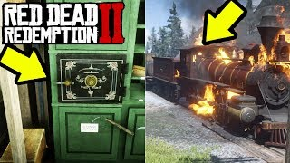 EASY MONEY TRAIN ROBBERY WITH NO BOUNTY in Red Dead Redemption 2!  How to Rob Train in RDR2!