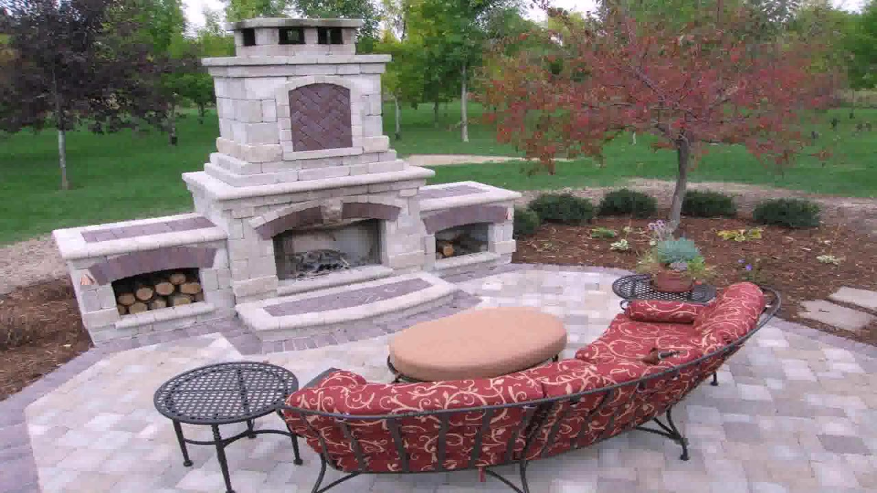 Small Outdoor Stone Fireplace Youtube