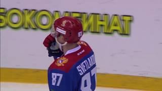 """Sochi Hockey Open. Олимпийская сборная России - """"Куньлунь"""" - 4:2. Видеообзор"""