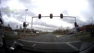 Driving in Utrecht, Netherlands