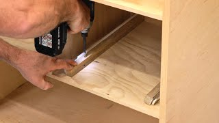 How To Under-Mount Drawer Slides - Woodworking