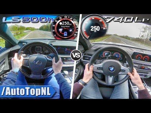 BMW 7 Series 740Le vs Lexus LS500h | 0-250km/h | ACCELERATION TOP SPEED & AUTOBAHN POV by AutoTopNL