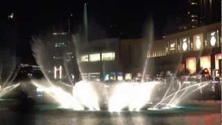 Dubai Fountain - Celine Dion & Andrea Bocelli - The Prayer